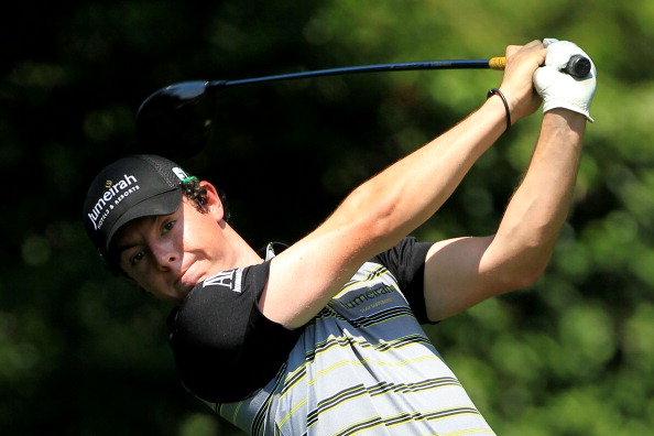 AUGUSTA, GA - APRIL 10:  Rory McIlroy of Northern Ireland hits his tee shot on the second hole during the final round of the 2011 Masters Tournament at Augusta National Golf Club on April 10, 2011 in Augusta, Georgia.  (Photo by David Cannon/Getty Images)