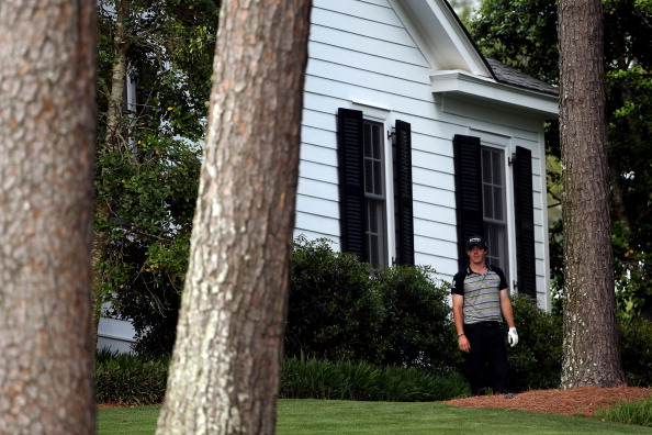 AUGUSTA, GA - APRIL 10:  Rory McIlroy of Northern Ireland waits on the tenth hole after an errant tee shot during the final round of the 2011 Masters Tournament at Augusta National Golf Club on April 10, 2011 in Augusta, Georgia.  (Photo by Andrew Redingt