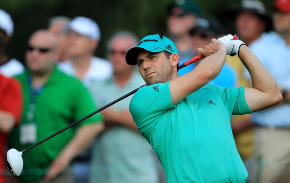 AUGUSTA, GA - APRIL 09:  Sergio Garcia of Spain watches his tee shot on the 15th hole during the third round of the 2011 Masters Tournament at Augusta National Golf Club on April 9, 2011 in Augusta, Georgia.  (Photo by David Cannon/Getty Images)