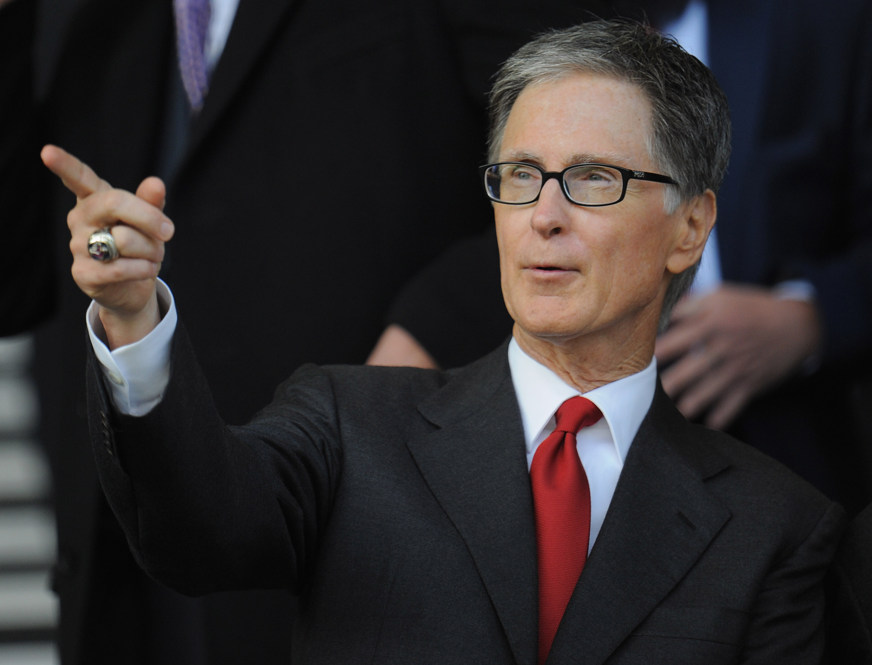LIVERPOOL, ENGLAND - OCTOBER 17:  Liverpool owner John W Henry looks on during the Barclays Premier League match between Everton and Liverpool at Goodison Park on October 17, 2010 in Liverpool, England.  (Photo by Michael Regan/Getty Images)