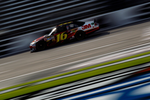 FORT WORTH, TX - APRIL 07:  Greg Biffle, driver of the #16 3M Ford, practices for the NASCAR Sprint Cup Series Samsung Mobile 500 at Texas Motor Speedway on April 7, 2011 in Fort Worth, Texas.  (Photo by Chris Graythen/Getty Images)
