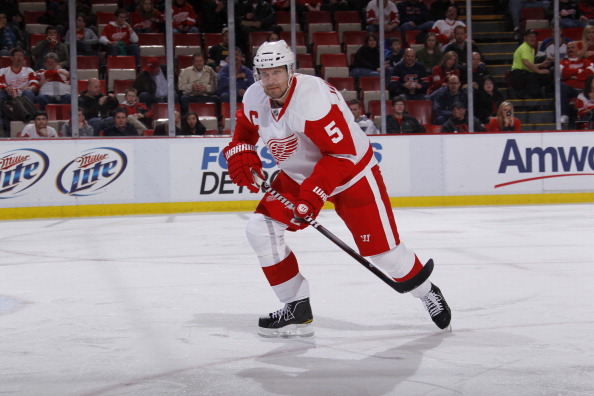 DETROIT, MI - MARCH 30:  Nicklas Lidstrom #5 of the Detroit Red Wings skates against the St. Louis Blues at Joe Louis Arena on March 30, 2011 in Detroit, Michigan.  (Photo by Gregory Shamus/Getty Images)