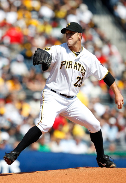 PITTSBURGH - APRIL 07:  Paul Maholm #28 of the Pittsburgh Pirates pitches against the Colorado Rockies during the Opening Day game on April 7, 2011 at PNC Park in Pittsburgh, Pennsylvania.  (Photo by Jared Wickerham/Getty Images)