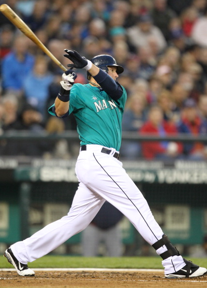 SEATTLE, WA - APRIL 08:  Jack Cust #29 of the Seattle Mariners bats against the Cleveland Indians during the Mariners' home opener at Safeco Field on April 8, 2011 in Seattle, Washington. (Photo by Otto Greule Jr/Getty Images)