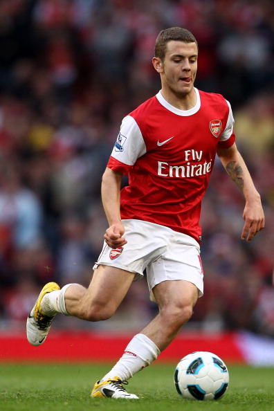 LONDON, ENGLAND - APRIL 02:  Jack Wilshere of Arsenal on the ball during the Barclays Premier League match between Arsenal and Blackburn Rovers at the Emirates Stadium on April 2, 2011 in London, England.  (Photo by Julian Finney/Getty Images)