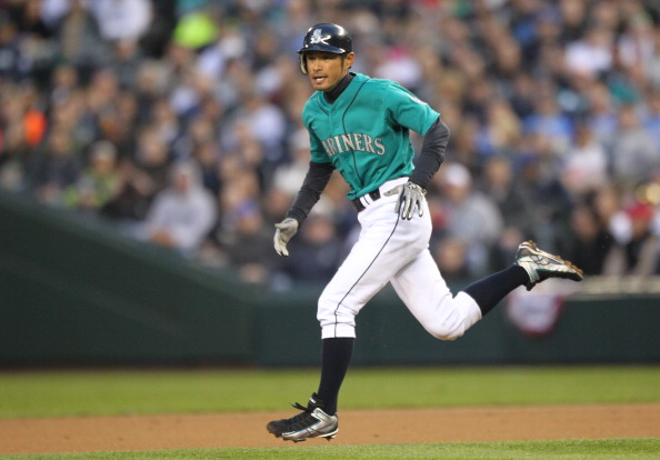 SEATTLE, WA - APRIL 08:  Ichiro Suzuki #51 of the Seattle Mariners runs the bases against the Cleveland Indians during the Mariners' home opener at Safeco Field on April 8, 2011 in Seattle, Washington. (Photo by Otto Greule Jr/Getty Images)