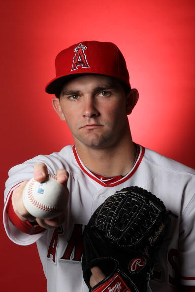 TEMPE, AZ - FEBRUARY 25:  Tyler Chatwood of the Los Angeles Angels of Anaheim poses during media photo day at Tempe Diablo Stadium on February 25, 2010 in Tempe, Arizona.  (Photo by Jed Jacobsohn/Getty Images)