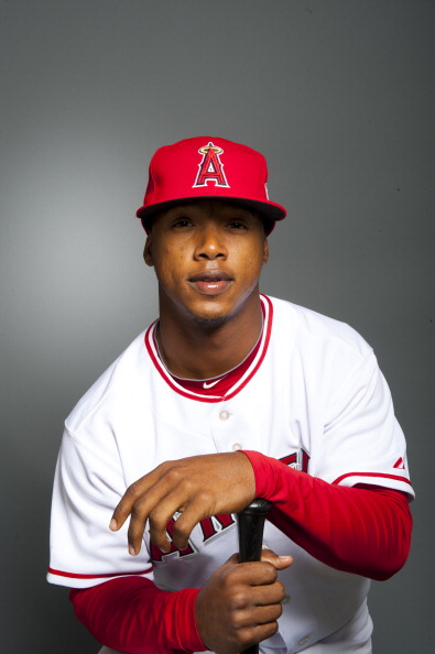 TEMPE, AZ - FEBRUARY 21: Jean Segura #79  of the Los Angeles Angels of Anaheim poses during their photo day at Tempe Diablo Stadium on February 21, 2011 in Tempe, Arizona.  (Photo by Rob Tringali/Getty Images)
