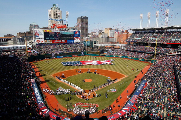 CLEVELAND - APRIL 01:  General view of Progressive Field stadium prior to the the Opening Day game between the Cleveland Indians and the Chicago White Sox on April 1, 2011 at Progressive Field in Cleveland, Ohio.  (Photo by Jared Wickerham/Getty Images)