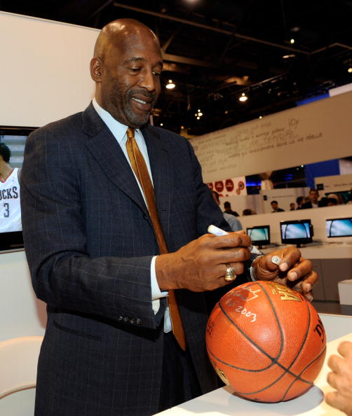 LAS VEGAS - JANUARY 07:  Former NBA basketball player James Worthy signs autographs at the Haier booth at the 2010 International Consumer Electronics Show at the Las Vegas Convention Center January 7, 2010 in Las Vegas, Nevada. CES, the world's largest an