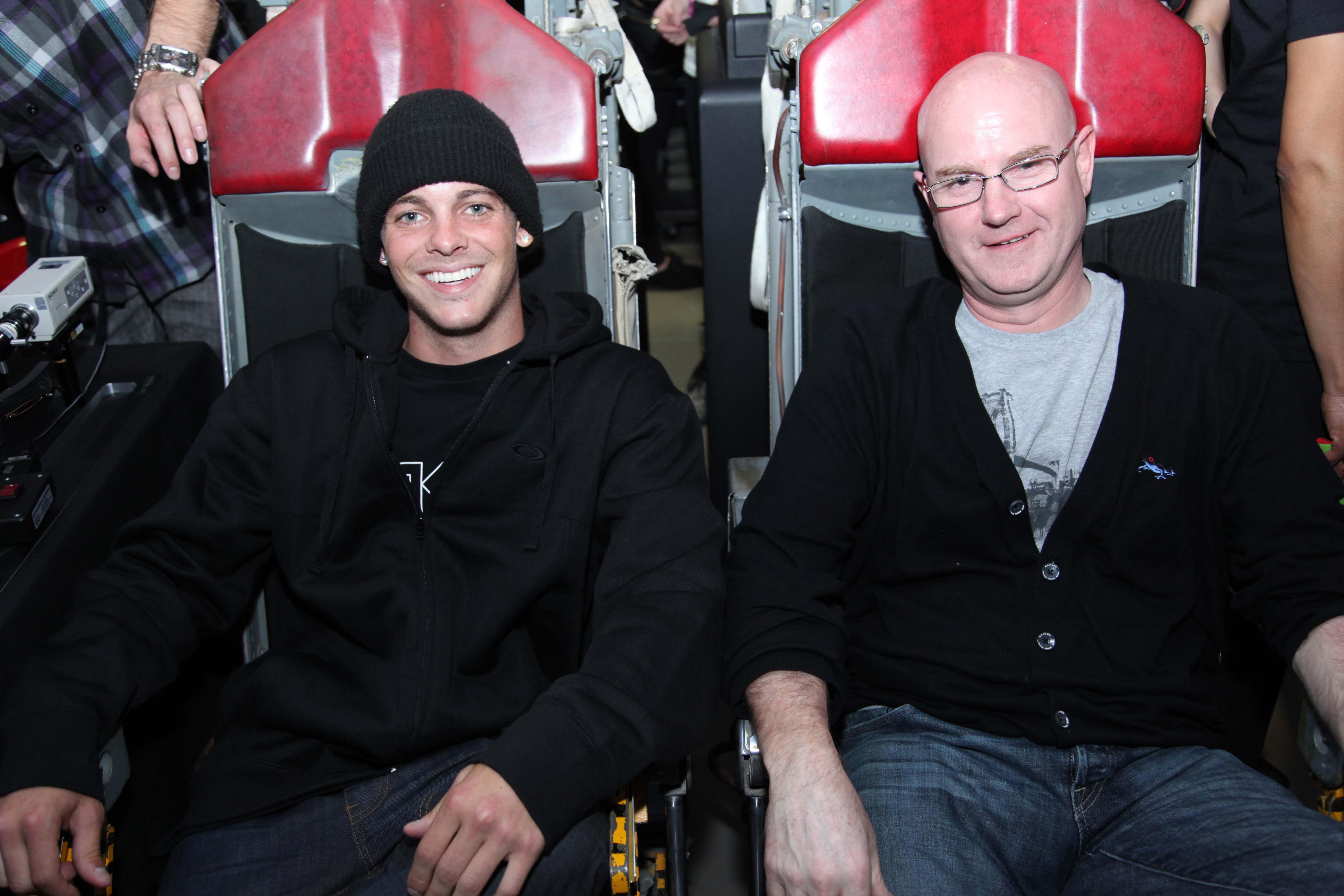 Ryan and Oakley CEO Colin Baden