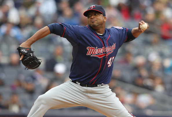 NEW YORK, NY - APRIL 07: Francisco Liriano #47 of the Minnesota Twins pitches against the New York Yankees at Yankee Stadium on April 7, 2011 in the Bronx borough of New York City.  (Photo by Nick Laham/Getty Images)
