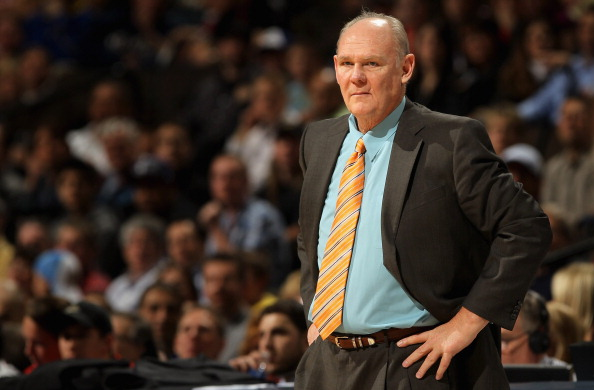DENVER, CO - MARCH 21:  Head coach George Karl of the Denver Nuggets leads his team against the Toronto Raptors at the Pepsi Center on March 21, 2011 in Denver, Colorado. The Nuggets defeated the Raptors 123-90. NOTE TO USER: User expressly acknowledges a