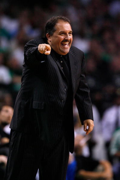 BOSTON - MAY 24:  Head coach Stan Van Gundy of  the Orlando Magic coaches against the Boston Celtics in Game Four of the Eastern Conference Finals during the 2010 NBA Playoffs at TD Banknorth Garden on May 24, 2010 in Boston, Massachusetts.  NOTE TO USER:
