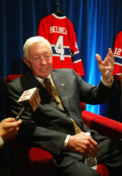 OTTAWA, ON - JUNE 01:  Former Montreal Canadiens great, Jean Beliveau speaks with the media during the 'Salute to the Stanley Cup Legends' on June 1, 2007 at the Brookstreet Hotel in Ottawa, Canada.  (Photo by Dave Sandford/Getty Images)