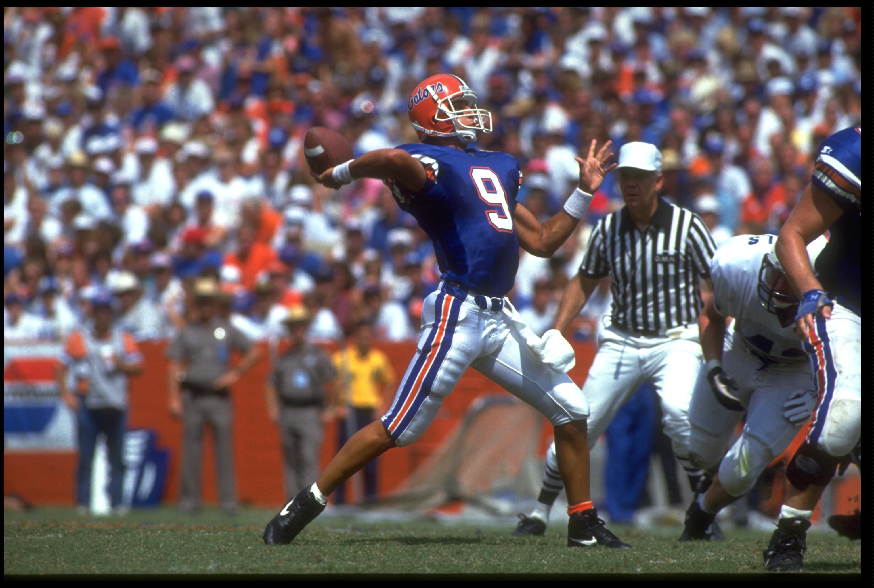 "Shane Matthews was the quarterback who ushered in the era of coach Steve Spurrier's ""Fun 'n Gun."""
