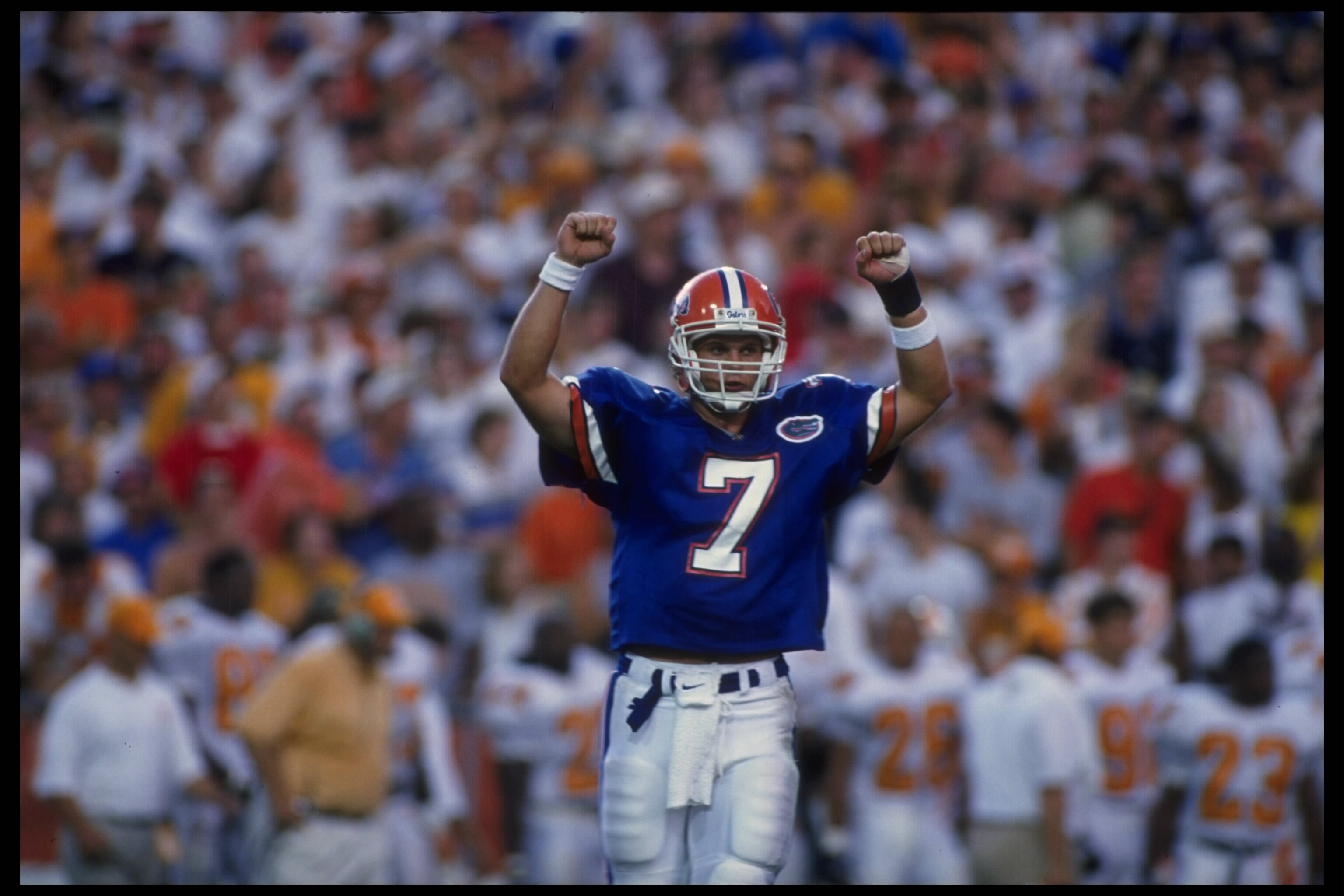 Danny Wuerffel struck this pose hundreds of times while at Florida.