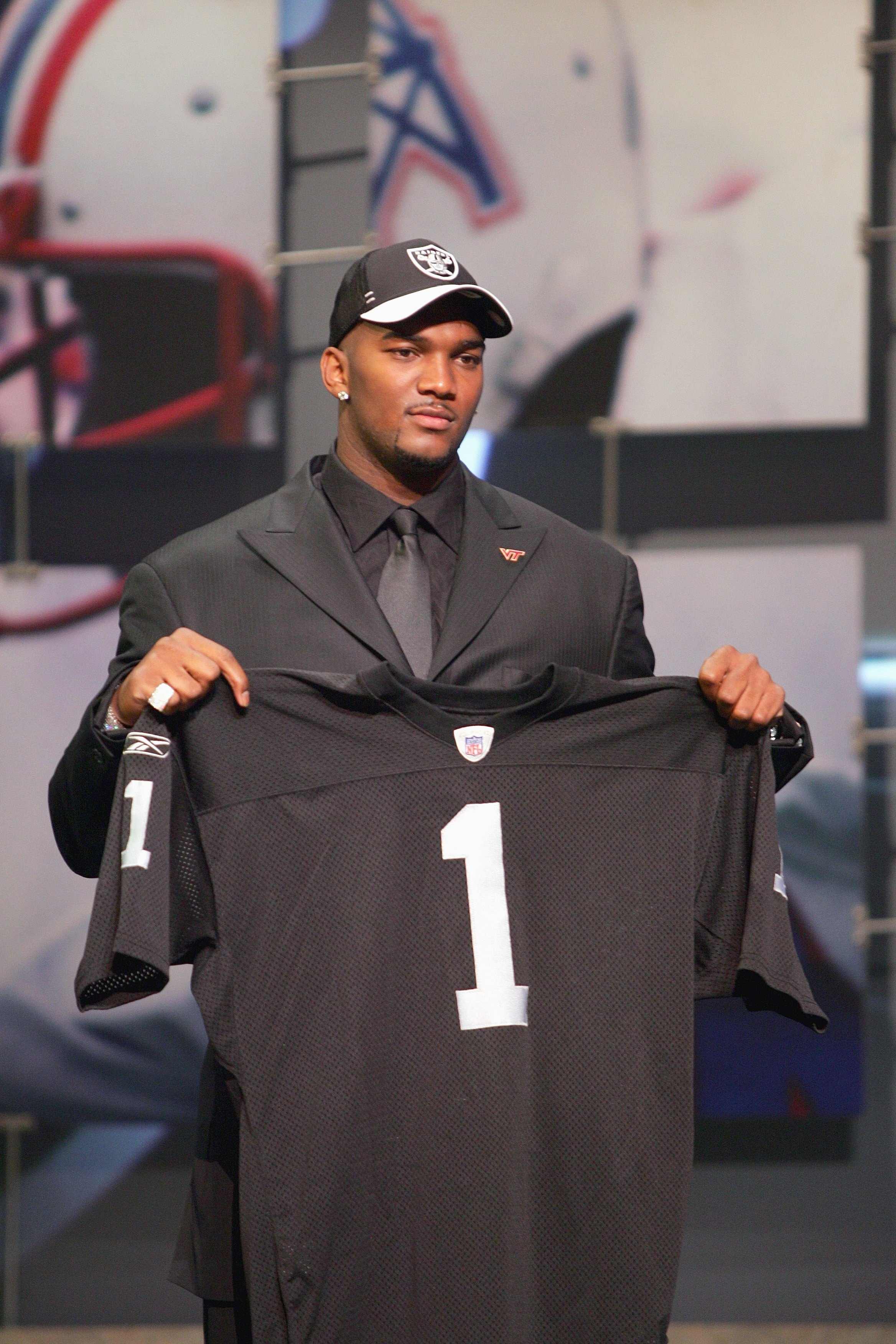 NEW YORK - APRIL 28:  Quarterback JaMarcus Russell of LSU poses for a photo after being drafted by the Oakland Raiders during the 2007 NFL Draft on April 28, 2007 at Radio City Music Hall in New York, New York. (Photo by Chris McGrath/Getty Images)