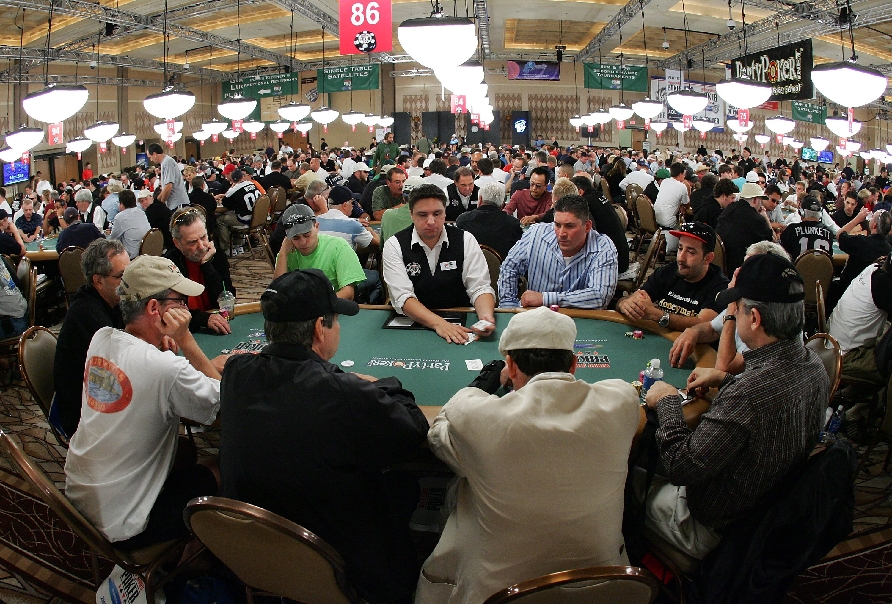 LAS VEGAS - JULY 30:  Players compete on the third day of the first round of the World Series of Poker no-limit Texas Hold 'em main event at the Rio Hotel & Casino July 30, 2006 in Las Vegas, Nevada. More than 8,600 players have registered to play in the