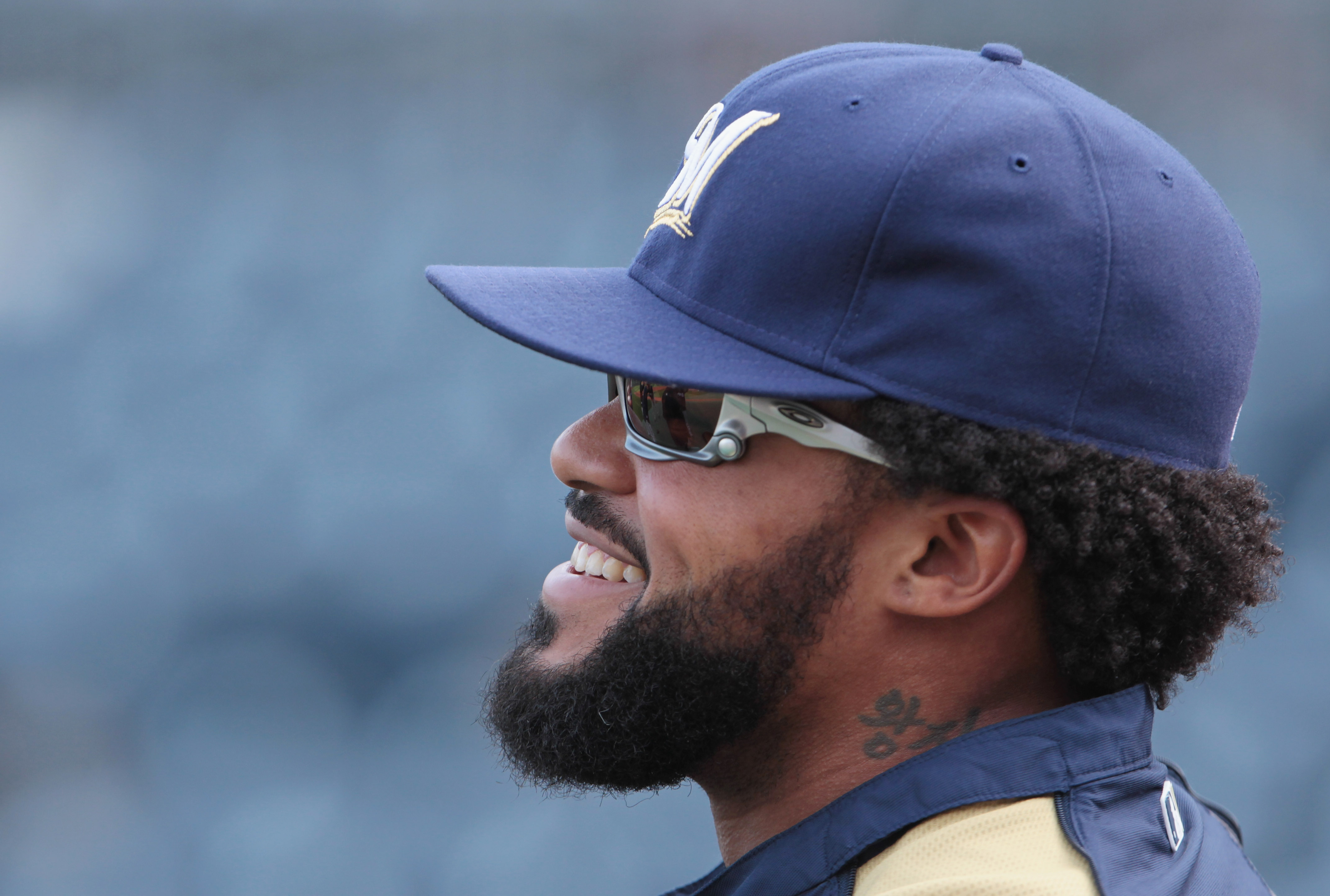 PITTSBURGH, PA - APRIL 14:  Prince Fielder #28 of the Milwaukee Brewers waits on the field before the start of their game against the Pittsburgh Pirates at PNC Park on April 14, 2011 in Pittsburgh, Pennsylvania.  (Photo by Scott Halleran/Getty Images)