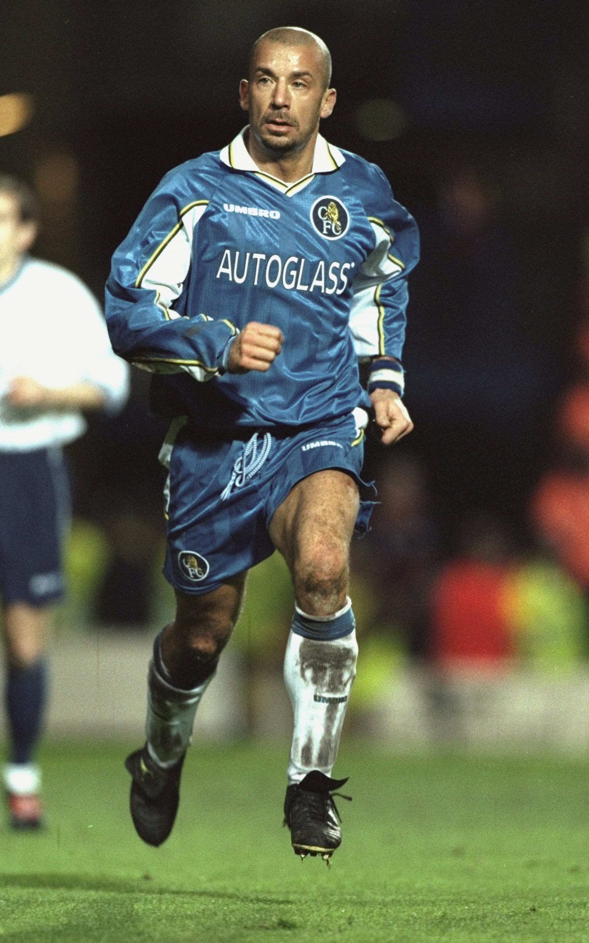 19 Dec 1998:  Gianluca Vialli of Chelsea in action during the FA Carling Premiership match against Tottenham Hotspur played at Stamford Bridge in London, England.  The match finished in a 2-0 win for Chelsea. \ Mandatory Credit: Allsport UK /Allsport