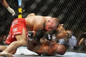 "Penn outworked ""Rush"" on the feet in round one, including the uppercut that broke his nose.  However, it was St-Pierre who took control with his wrestling in rounds two and three."