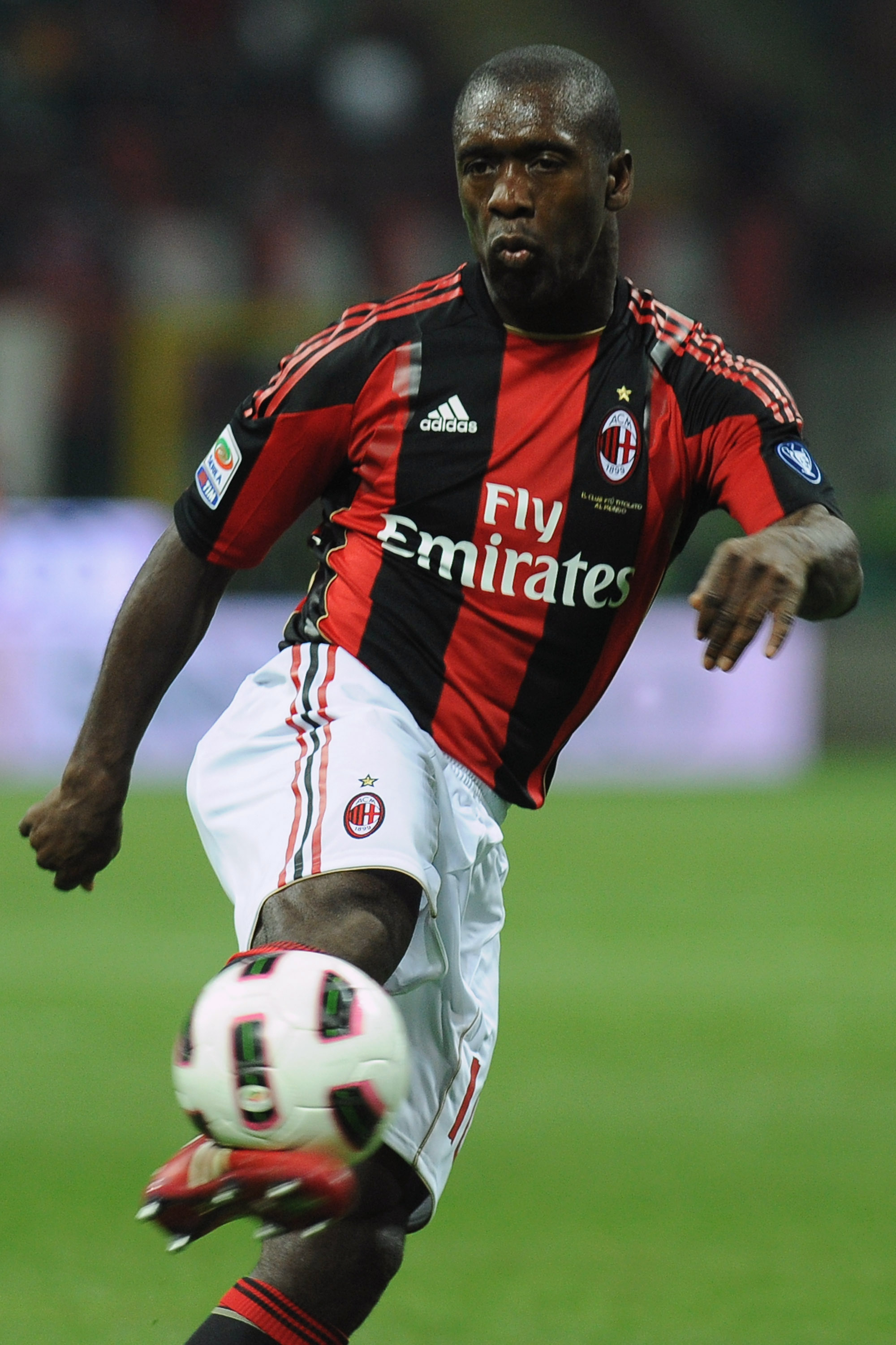 MILAN, ITALY - APRIL 16:  Clarence Seedorf of AC Milan in action during the Serie A match between AC Milan and UC Sampdoria at Stadio Giuseppe Meazza on April 16, 2011 in Milan, Italy.  (Photo by Valerio Pennicino/Getty Images)