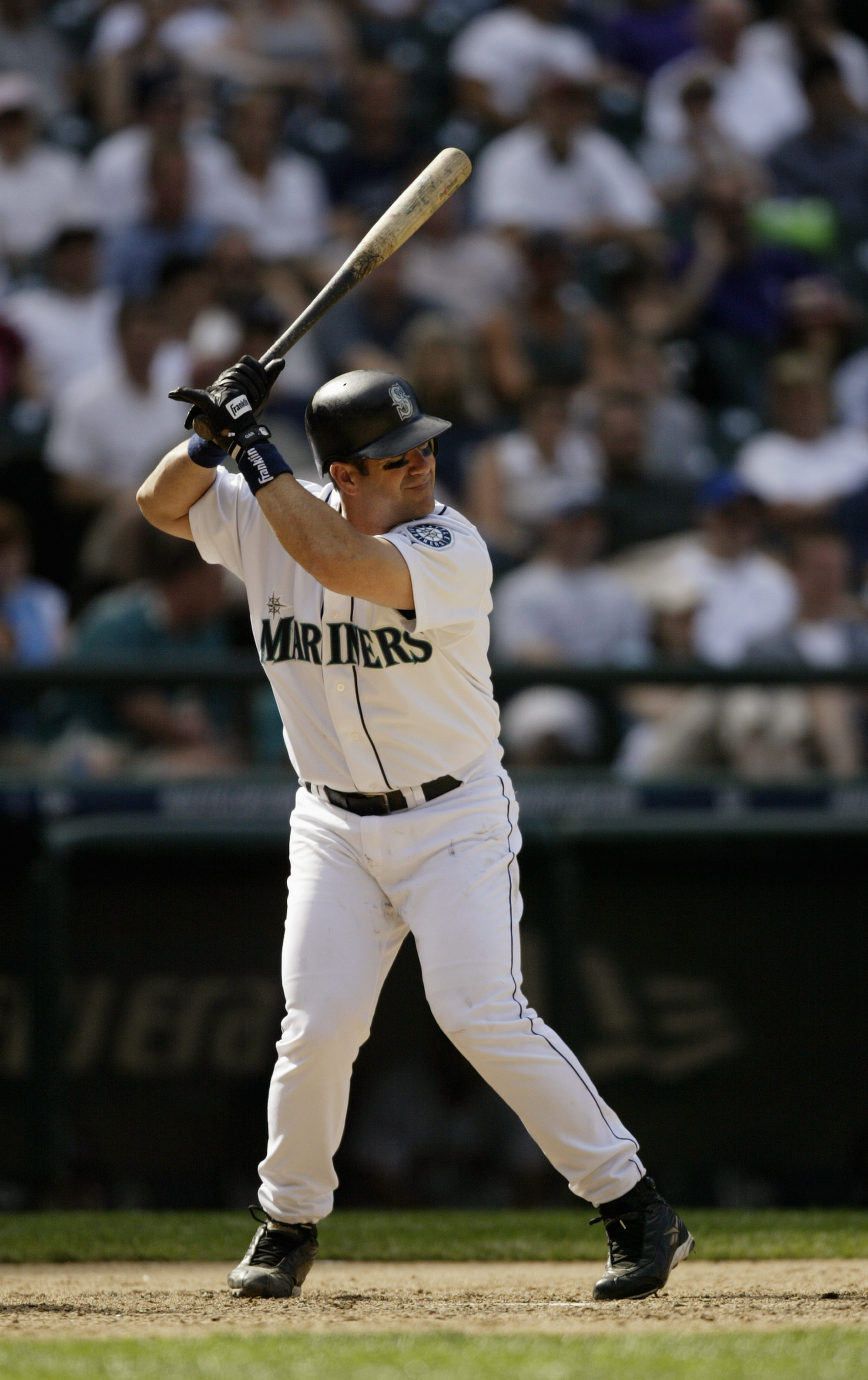 SEATTLE - JULY 20:  Edgar Martinez #11 of the Seattle Mariners bats during the game against the Boston Red Sox on July 20, 2004 at Safeco Field in Seattle, Washington.  The Red Sox defeated the Mariners 9-7.  (Photo by Otto Greule Jr/Getty Images)