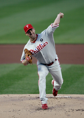 WASHINGTON, DC - APRIL 14:  Starting pitcher Cliff Lee #33 of the Philadelphia Phillies delivers to a Washington Nationals batter at Nationals Park on April 14, 2011 in Washington, DC.  (Photo by Rob Carr/Getty Images)