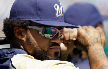 WASHINGTON, DC - APRIL 17: Prince Fielder #28 of the Milwaukee Brewers waits to take batting practice before the start of their game against the Washington Nationals at Nationals Park on April 17, 2011 in Washington, DC.  (Photo by Rob Carr/Getty Images)