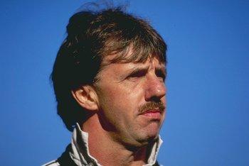 Oct 1996:  A portrait of Mark Lawrenson the defensive coach of Newcastle United. Mandatory Credit: Allsport