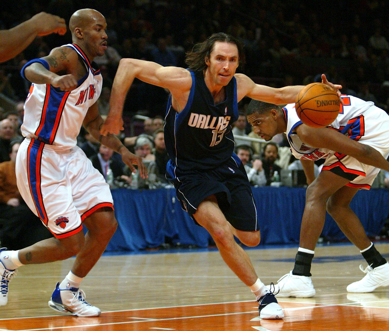 96454429f3c NEW YORK CITY - JANUARY 12  Steve Nash  13 of the Dallas Mavericks drives