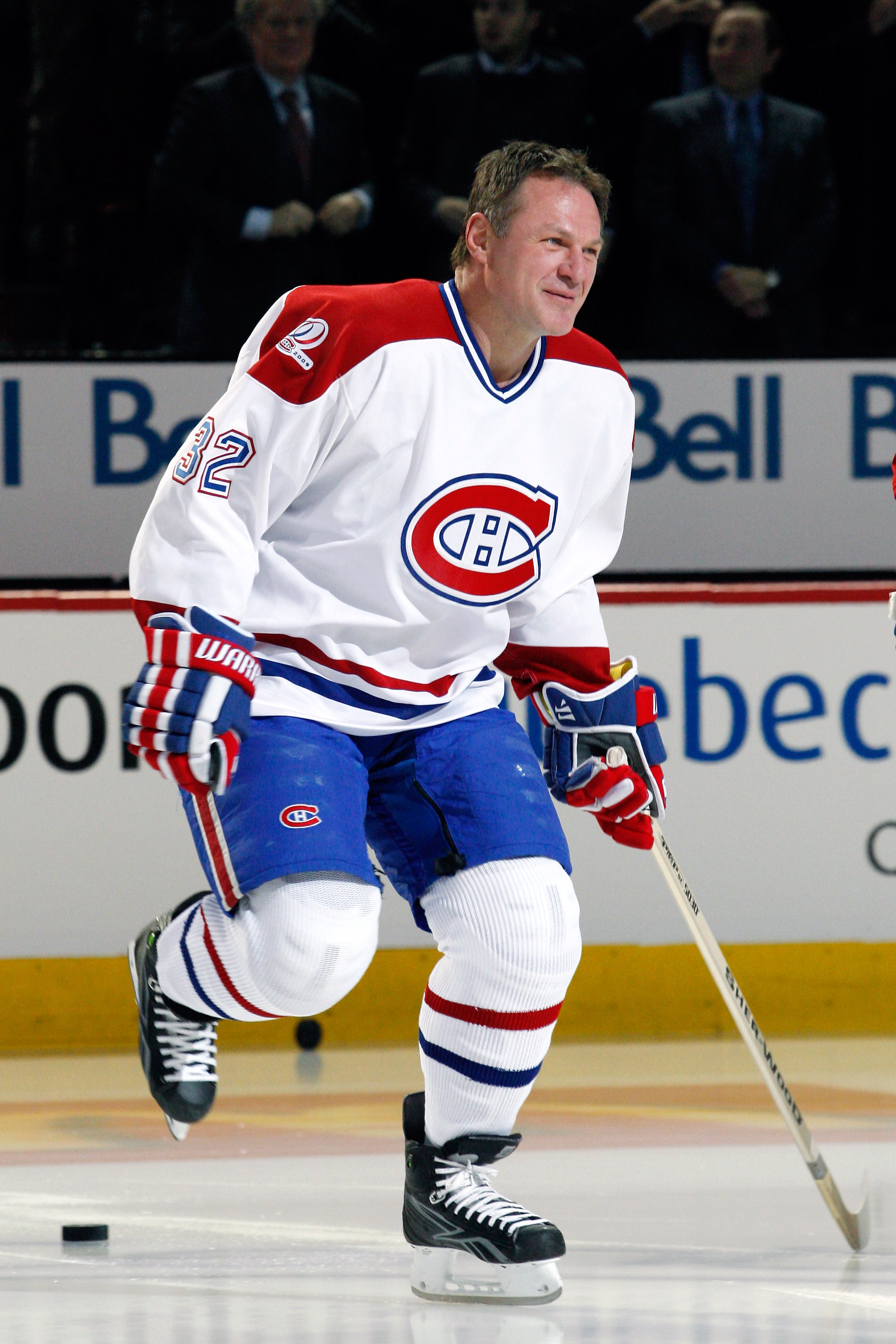 MONTREAL- DECEMBER 4:  Former Monreal Canadien Claude Lemieux skates during the Centennial Celebration ceremonies prior to the NHL game between the Montreal Canadiens and Boston Bruins on December 4, 2009 at the Bell Centre in Montreal, Quebec, Canada.  T