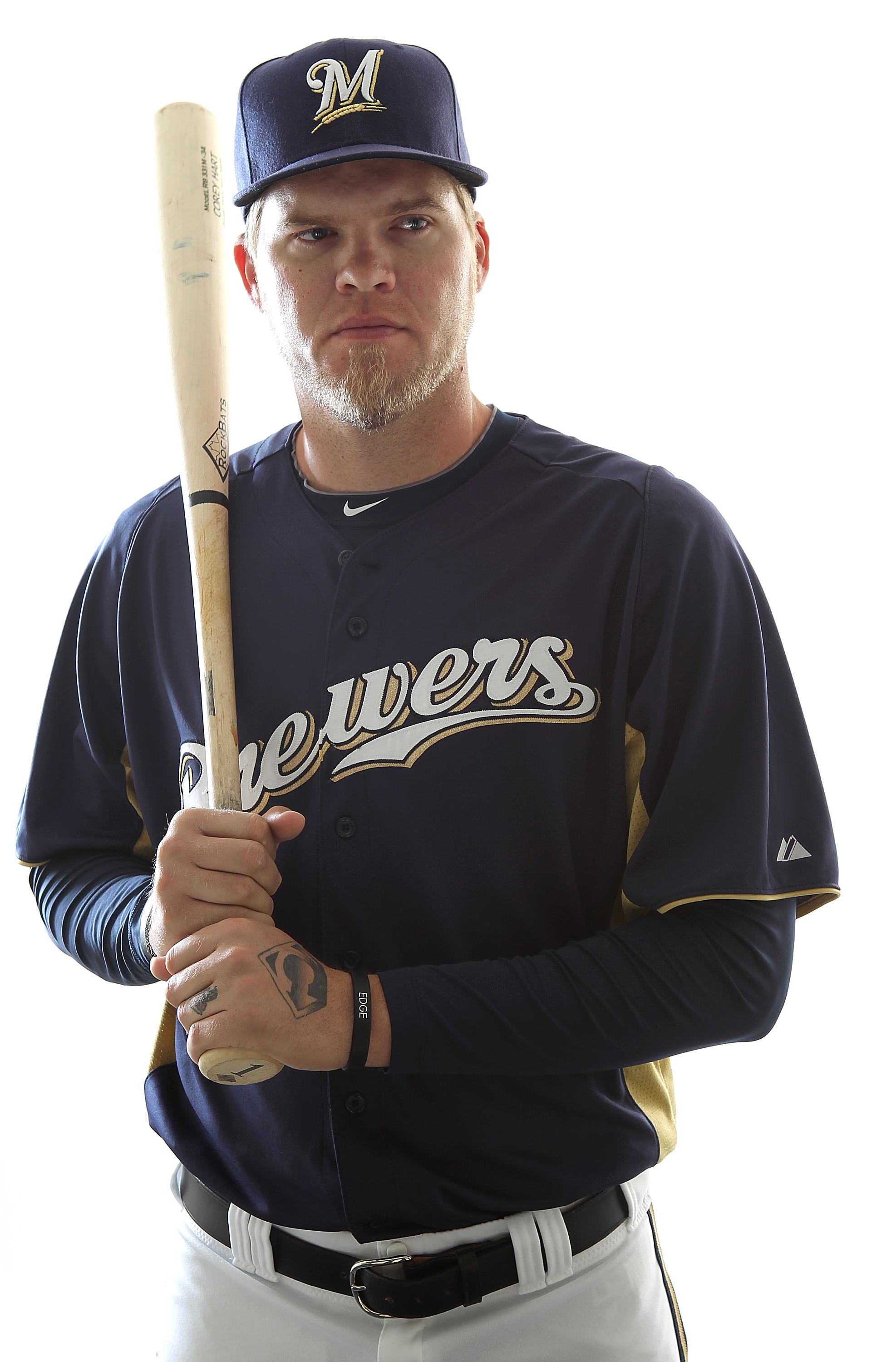 MARYVALE, AZ - FEBRUARY 24:  Corey Hart #1 of the Milwaukee Brewers poses for a portrait during Spring Training Media Day on February 24, 2011 at Maryvale Stadium in Maryvale, Arizona.  (Photo by Jonathan Ferrey/Getty Images)