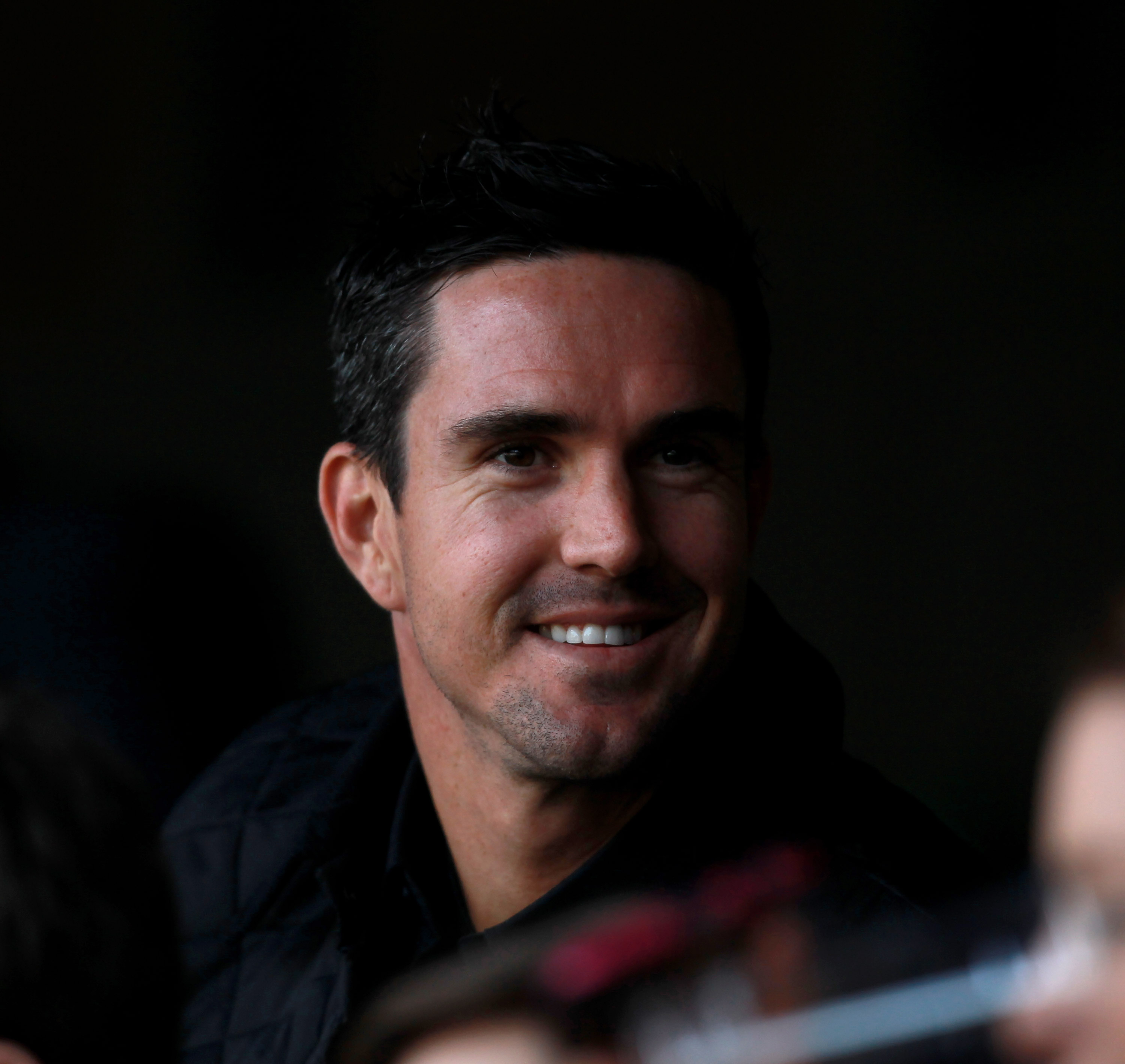 LONDON, ENGLAND - MARCH 27:  Cricketer Kevin Pietersen looks on from the stands ahead of the round six Super Rugby match between the Crusaders and the Sharks at Twickenham Stadium on March 27, 2011 in London, United Kingdom.  (Photo by Warren Little/Getty
