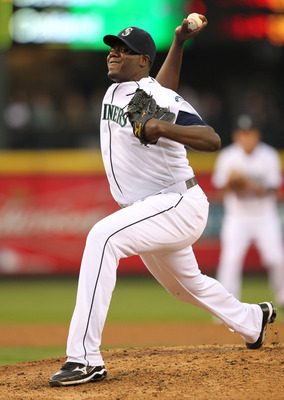 SEATTLE - MAY 04:  Starting pitcher Michael Pineda #36 of the Seattle Mariners pitches against the Texas Rangers at Safeco Field on May 4, 2011 in Seattle, Washington. (Photo by Otto Greule Jr/Getty Images)