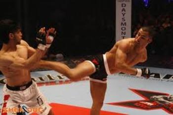John Makdessi landing a side kick