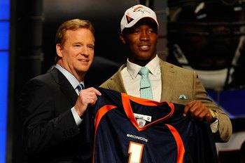 With their 1st pick, the Denver Broncos select...