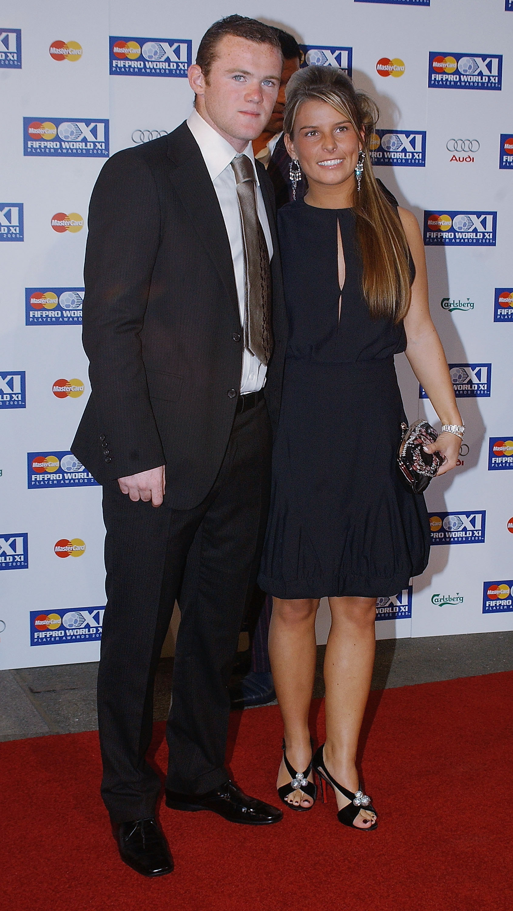 LONDON - SEPTEMBER 19: Wayne Rooney and Girlfriend Coleen Mcloughlin arrive at the Mastercard FIFPRO World XI Player Awards, the inaugural international peer-voted football awards, at BBC Television Centre on September 19, 2005 in London, England. FIFPRO'