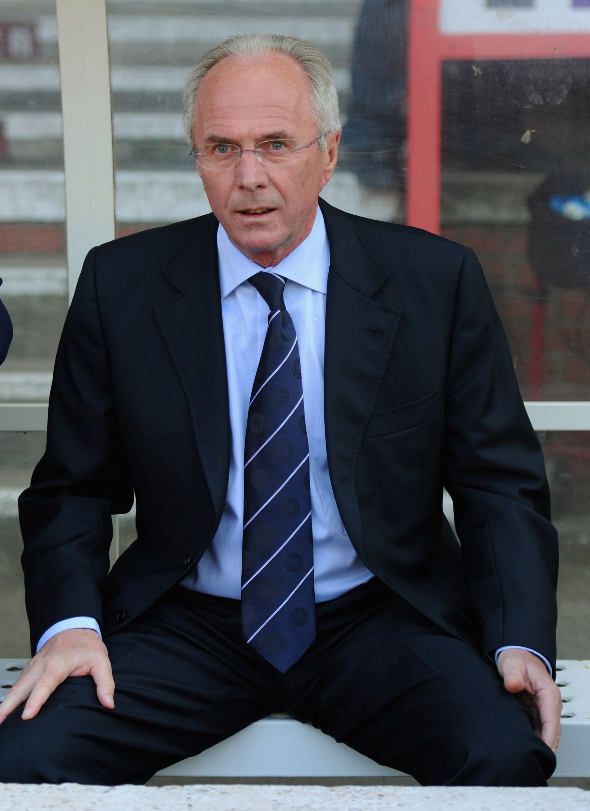 NOTTINGHAM, ENGLAND - APRIL 22:  Leicester manager Sven Goran Eriksson looks on before the npower Championship match between Nottingham Forest and Leicester City at the City Ground on April 22, 2011 in Nottingham, England.  (Photo by Michael Regan/Getty I