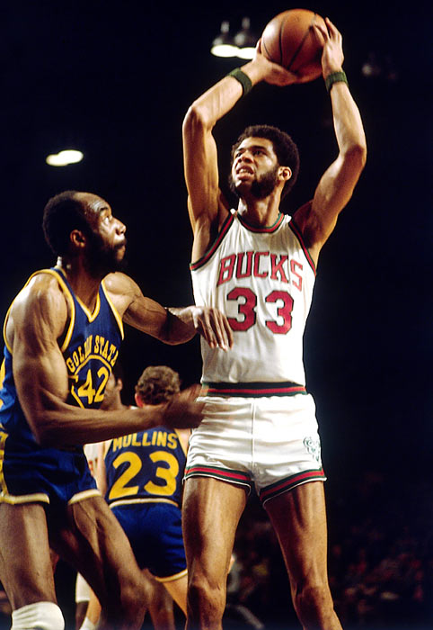 3c34b9bf5 Larger than life legends Kareem Abdul-Jabbar and Oscar Robertson led the  Bucks to the 1971 title in these duds.
