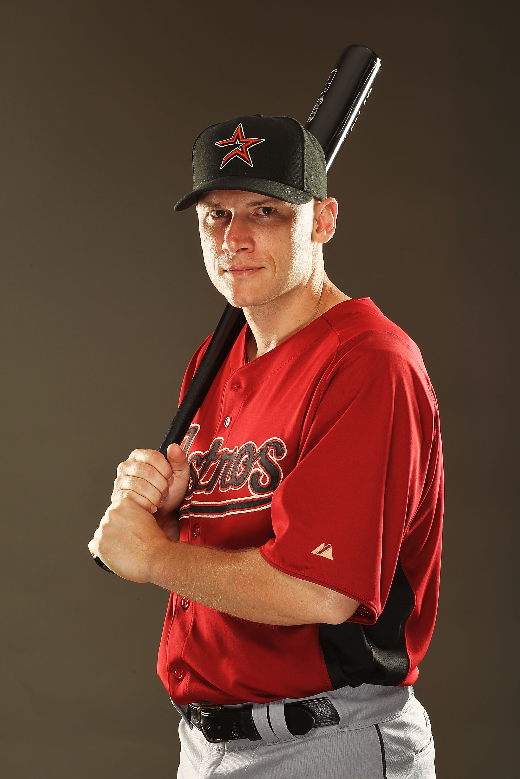 KISSIMMEE, FL - FEBRUARY 24:  Clint Barmes #14 of the Houston Astros poses for a portrait during Spring Training photo Day at Osceola County Stadium  on February 24, 2011 in Kissimmee, Florida.  (Photo by Al Bello/Getty Images)