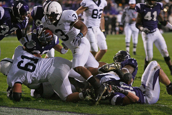 The Wiz clears a path for a Penn State touchdown