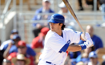 PHOENIX, AZ - FEBRUARY 27:  Andre Ethier #16 of the Los Angeles Dodgers at bat during spring training at Camelback Ranch on February 27, 2011 in Phoenix, Arizona.  (Photo by Harry How/Getty Images)