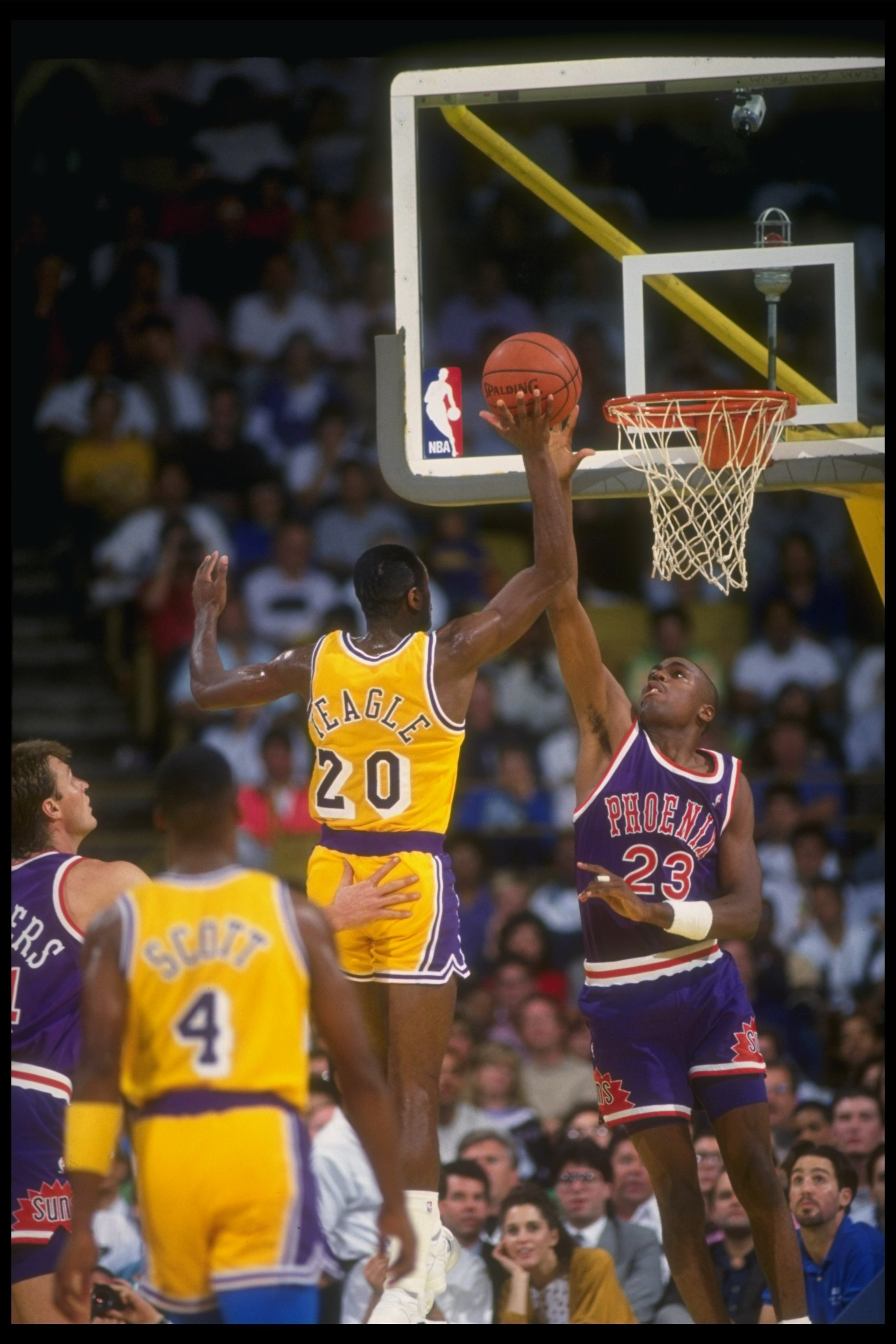 e6050856c 1990-1991  Forward Cedric Ceballos of the Phoenix Suns goes up for two  during