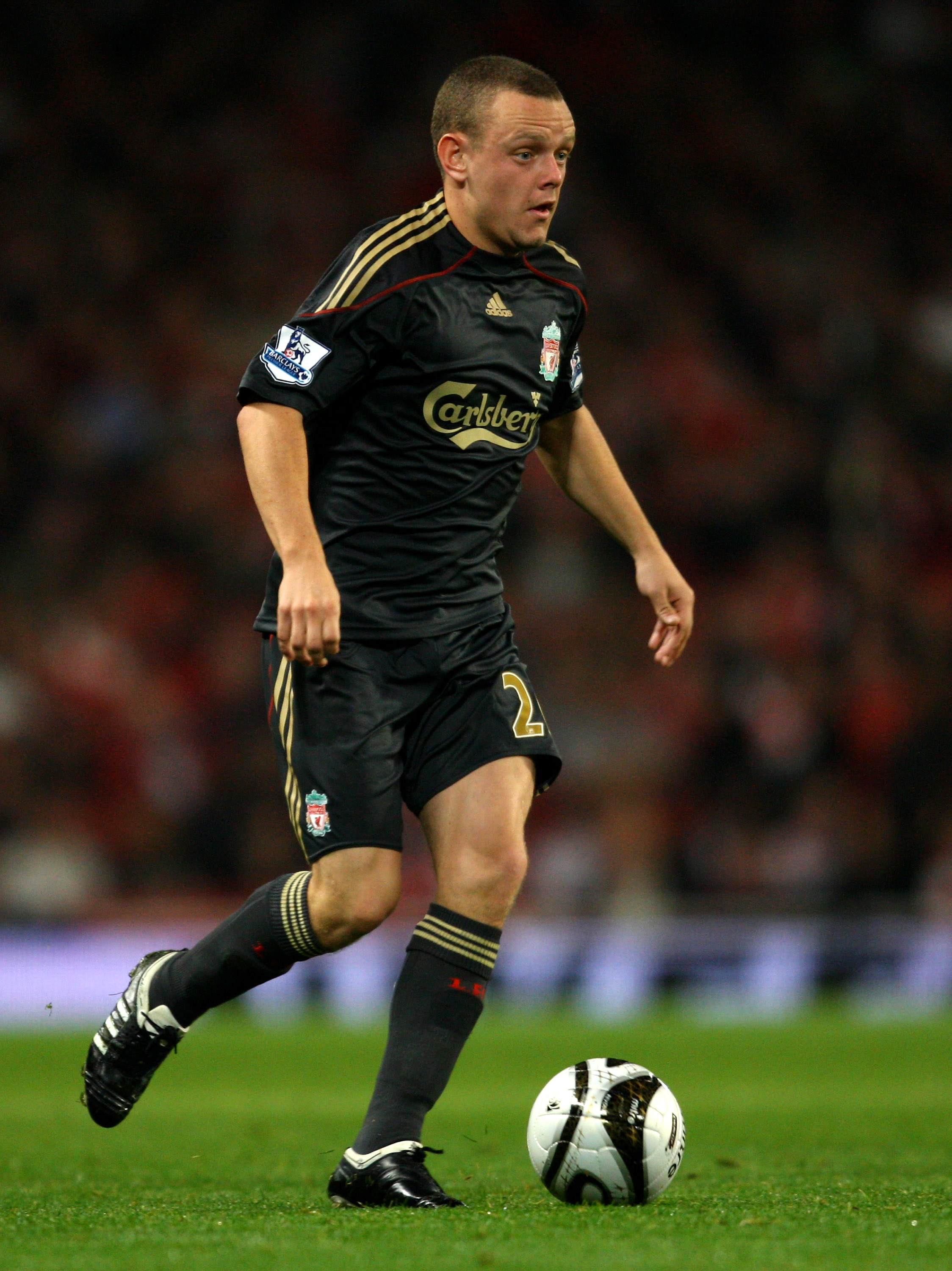 LONDON, ENGLAND - OCTOBER 28:  Jay Spearing of Liverpool during the Carling Cup 4th Round match between Arsenal and Liverpool at the Emirates Stadium on October 28, 2009 in London, England.  (Photo by Shaun Botterill/Getty Images)
