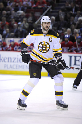 MONTREAL, CANADA - APRIL 26:  Zdeno Chara #33 of the Boston Bruins skates in Game Six of the Eastern Conference Quarterfinals against the Boston Bruins during the 2011 NHL Stanley Cup Playoffs at the Bell Centre on April 26, 2011 in Montreal, Canada.  (Ph