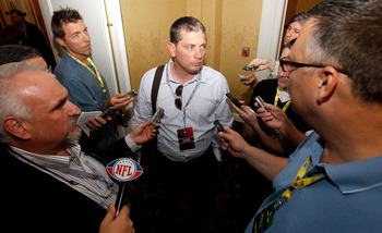 NEW ORLEANS, LA - MARCH 21:  Detroit Lions head coach Jim Schwartz anwers questions from the media while attending the NFL Annual Meetings at the Roosevelt Hotel on March 21, 2011 in New Orleans, Louisiana. Despite a NFL owners imposed lockout in effect s
