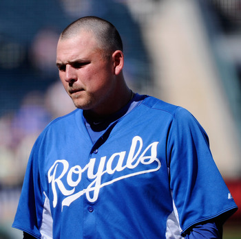 SURPRISE, AZ - MARCH 12:  Billy Butler #16 of the Kansas City Royals plays in the spring training baseball game against the Los Angeles Dodgers at Surprise Stadium on March 12, 2011 in Surprise, Arizona.  (Photo by Kevork Djansezian/Getty Images)
