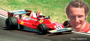 Niki Lauda was severely burned in a crash, recovered and continued his career.